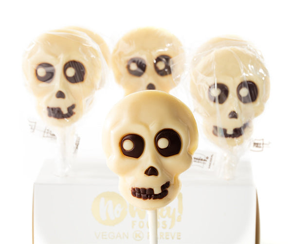 No Whey Foods Skull Chocolate Lollipop - 22g