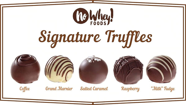 No Whey Chocolate Signature Truffle Sampler Box (6 Truffles)