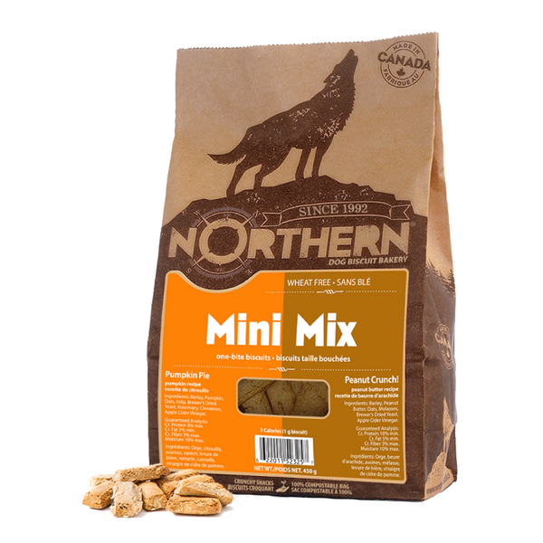 Northern MiniMix Pumpkin Pie and Peanut Crunch Dog Treats - 450g