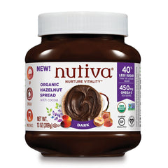 Nutiva Dark Chocolate Hazelnut Spread - 369g