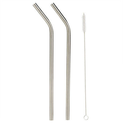 Onyx 2 Pack Smoothie Straws - (24cm x 9mm)