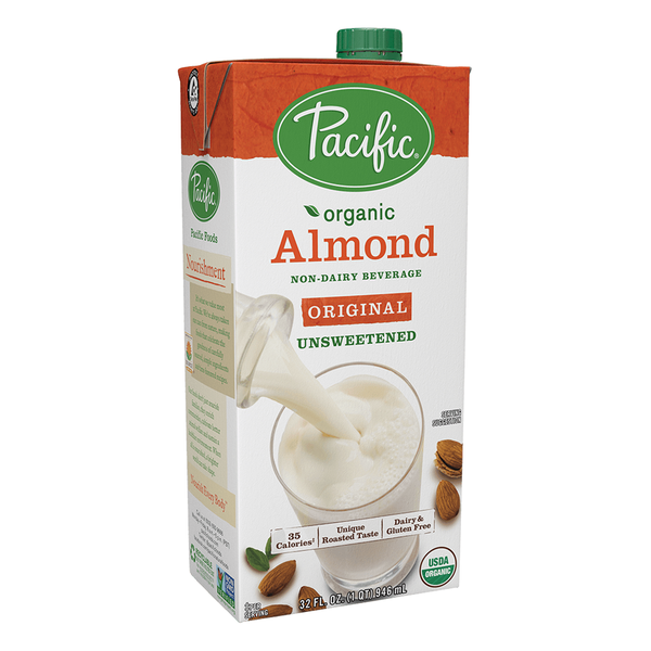 Pacific Foods Organic Original Unsweetened Almond Beverage - 946ml
