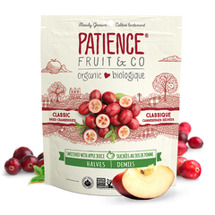 Patience Fruit & Co Organic Classic Dried Cranberries Sweetened With Apple Juice - 227g