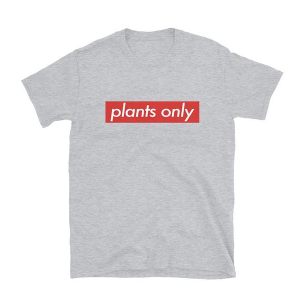 Plant Active 'Plants Only' Grey Unisex T-Shirt