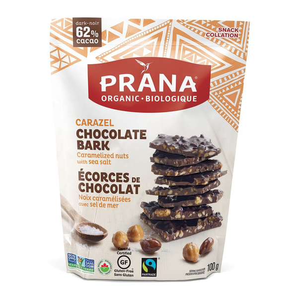Prana Carazel Chocolate Bark - 100g