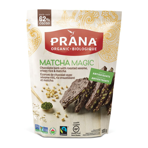 Prana Matcha Magic Chocolate Bark - 100g