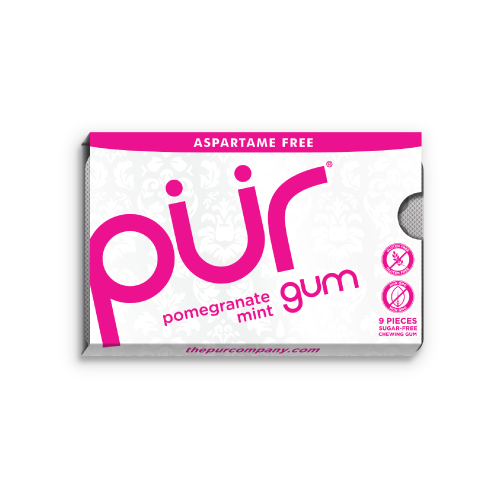 Pur Pomegranate Mint Gum - Multiple Sizes