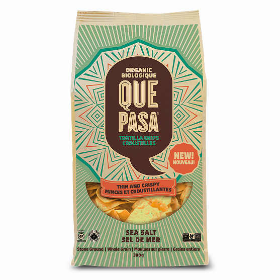 Que Pasa Thin & Crispy Sea Salt Tortilla Chips - 300g