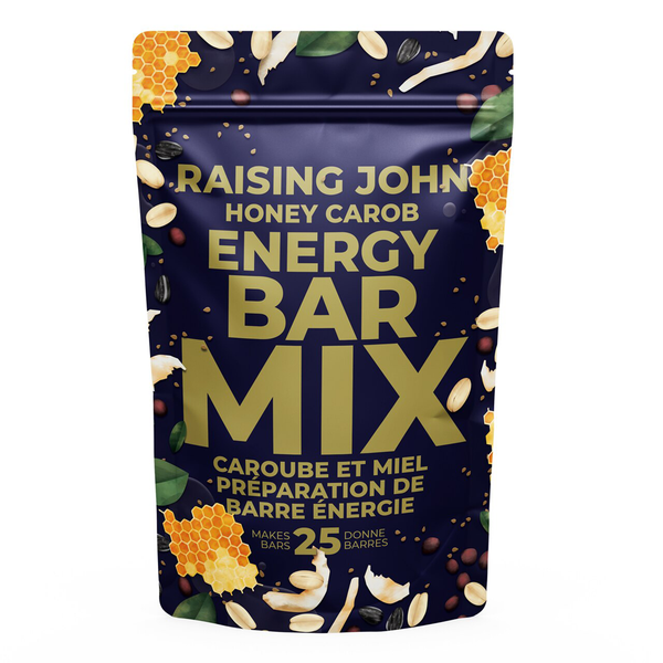 "Raising John ""Honey"" Carob Energy Bar Mix - 355g"
