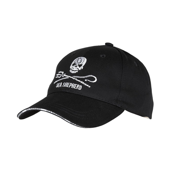 Sea Shepherd Jolly Roger Black Baseball Cap