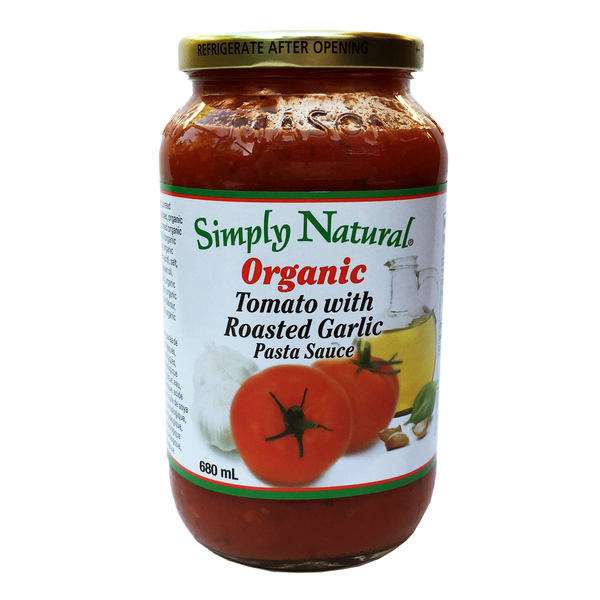 Simply Natural Organic Tomato with Roasted Garlic Pasta Sauce - 680ml