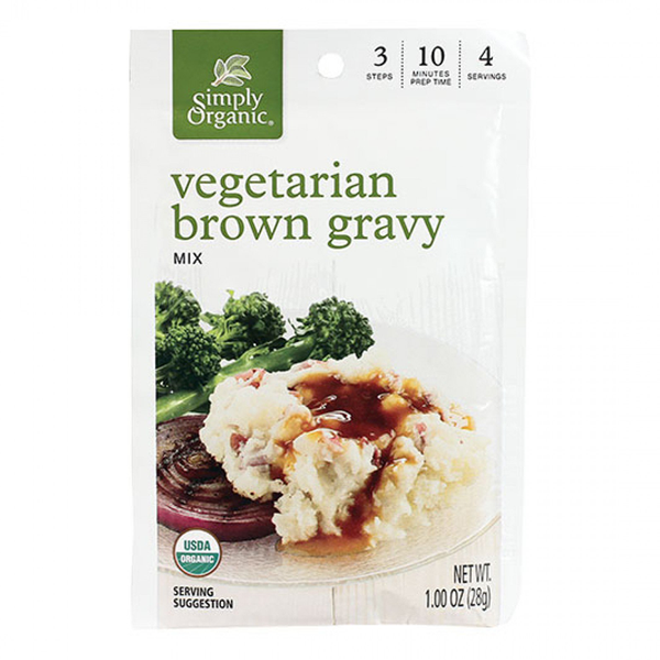 Simply Organic Vegetarian Brown Gravy - 28g