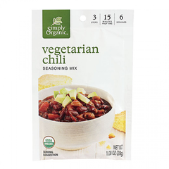 Simply Organic Vegetarian Chili Seasoning - 28g