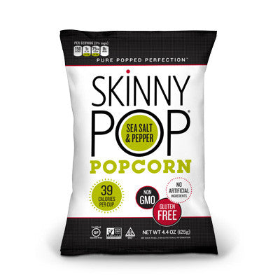 Skinny Pop Sea Salt & Pepper Popcorn - 125g