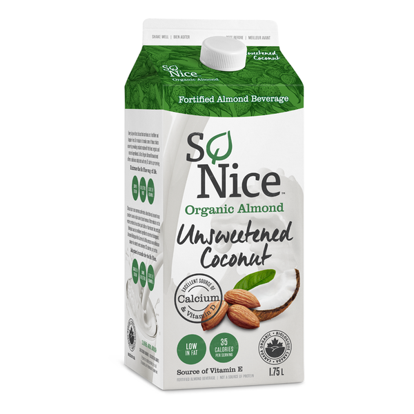 So Nice Organic Almond Unsweetened Coconut Beverage - 1.75L