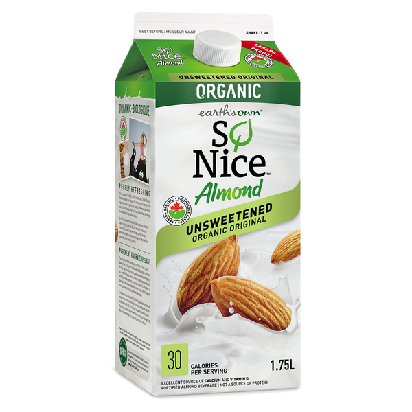 So Nice Unsweetened Almond Beverage - 1.75L