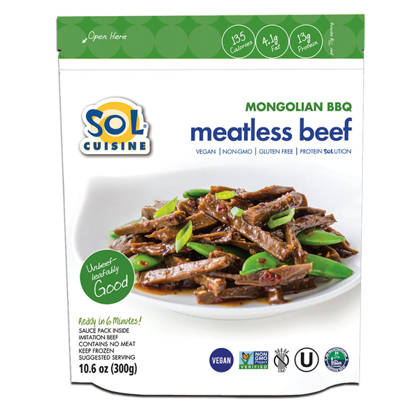 Sol Cuisine Mongolian BBQ Meatless Beef - 300g