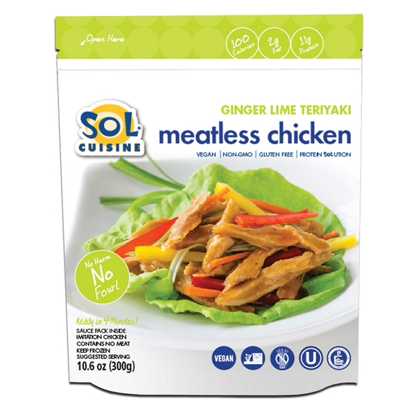 Sol Cuisine Ginger Lime Teriyaki Meatless Chicken - 300g