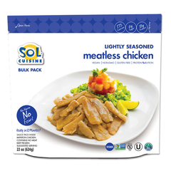 Sol Cuisine Lightly Seasoned Meatless Chicken - 624g