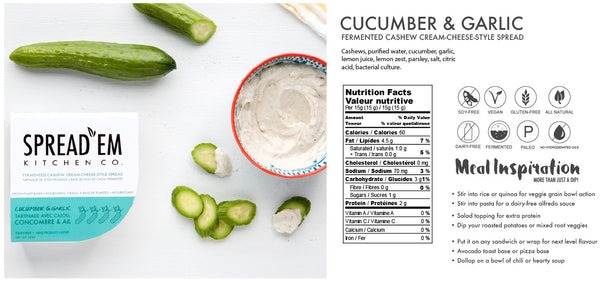 Spread'Em Cucumber & Garlic Cashew Spread - 183g
