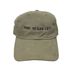Talk Vegan To Me 'That Vegan Life' Olive Green Dad Hat