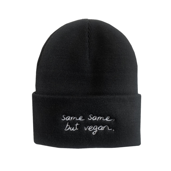 Talk Vegan To Me 'Same Same, But Vegan' Black Toque