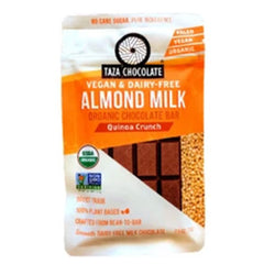 Taza Quinoa Crunch Almond Milk Chocolate - 70g