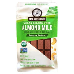 Taza Crunchy Cashew Almond Milk Chocolate - 70g