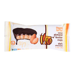 Theo Dark Chocolate Salted Almond Butter Cups - 36g