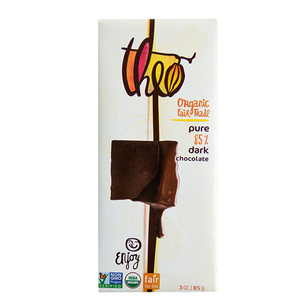 Theo Organic Pure 85% Dark Chocolate - 85g