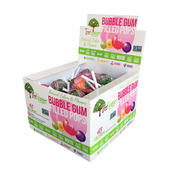 Tree Hugger Assorted Bubble Gum Pops - 12g