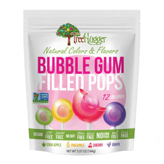 Tree Hugger Bubble Gum Filled Pops - 144g