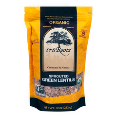 Truroots Organic Sprouted Green Lentils - 283g