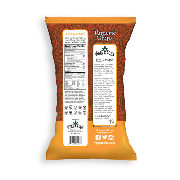 Vegan Rob's Turmeric Rice Chips - Multiple Sizes