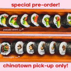 SPECIAL PRE-ORDER - Mizu Sushi Co. - PLEASE REVIEW DESCRIPTION