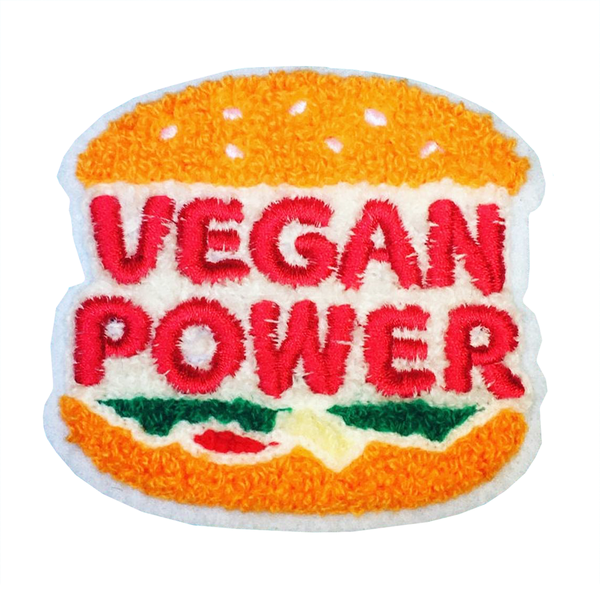 Vegan Power Co 'Chenille Burger' Patch
