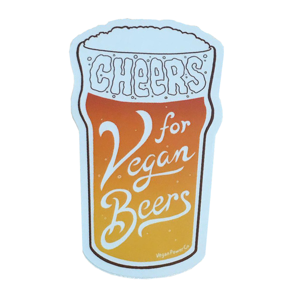 "Vegan Power Co 4"" Vegan Beers Sticker"