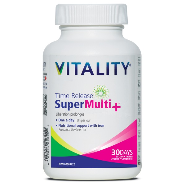 Vitality Time Release SuperMulti+ - 30 or 60 Tablets
