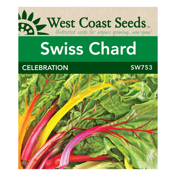 West Coast Seeds Celebration Swiss Chard Seeds - 2g