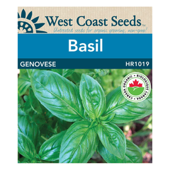 West Coast Seeds Genovese Organic Basil Seeds - 0.5g