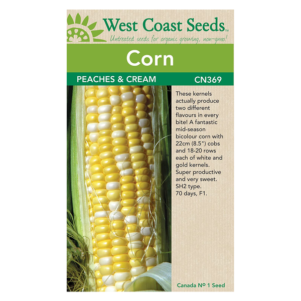 West Coast Seeds Peaches and Cream Corn Seeds - 10g