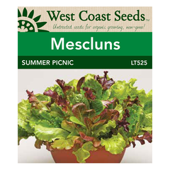 West Coast Seeds Summer Picnic Mesculuns - 10 Pelleted Seeds