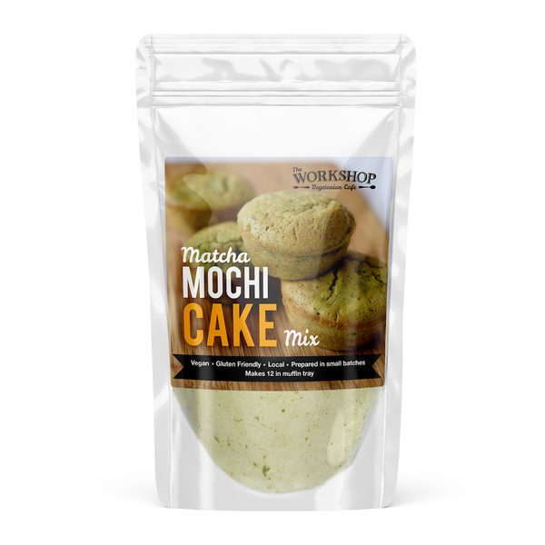 Workshop Vegetarian Cafe Matcha Mochi Cake Mix - 500g