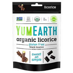 YumEarth Organic Black Licorice - 142g