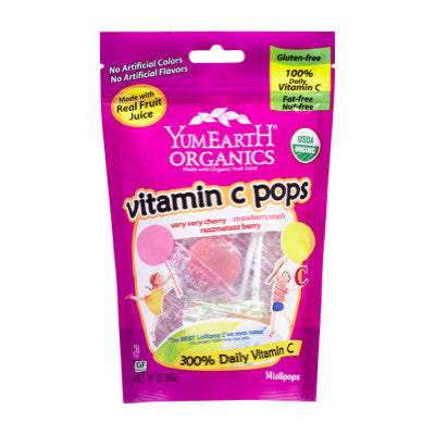 YumEarth Organic Vitamin C Pops - 85g