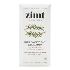 Zimt Maple Smoked Salt & Rosemary Chocolate Bar - 40g