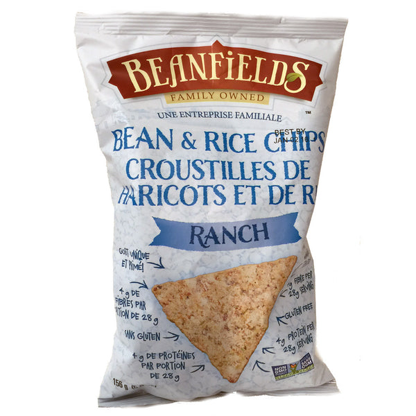 Beanfields Ranch Bean & Rice Chips - 156g