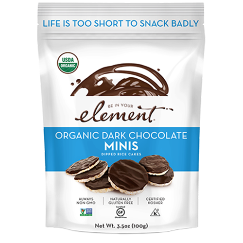 Be In Your Element Dark Chocolate Rice Cake Minis , 100g