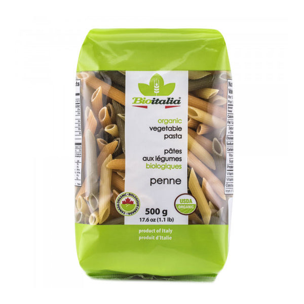 Bioitalia Organic Vegetable Wheat Penne Pasta - 500g