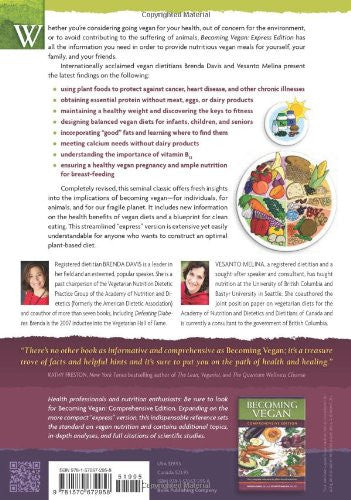 Becoming Vegan: Express Edition by Vesanto Melina & Brenda Davis